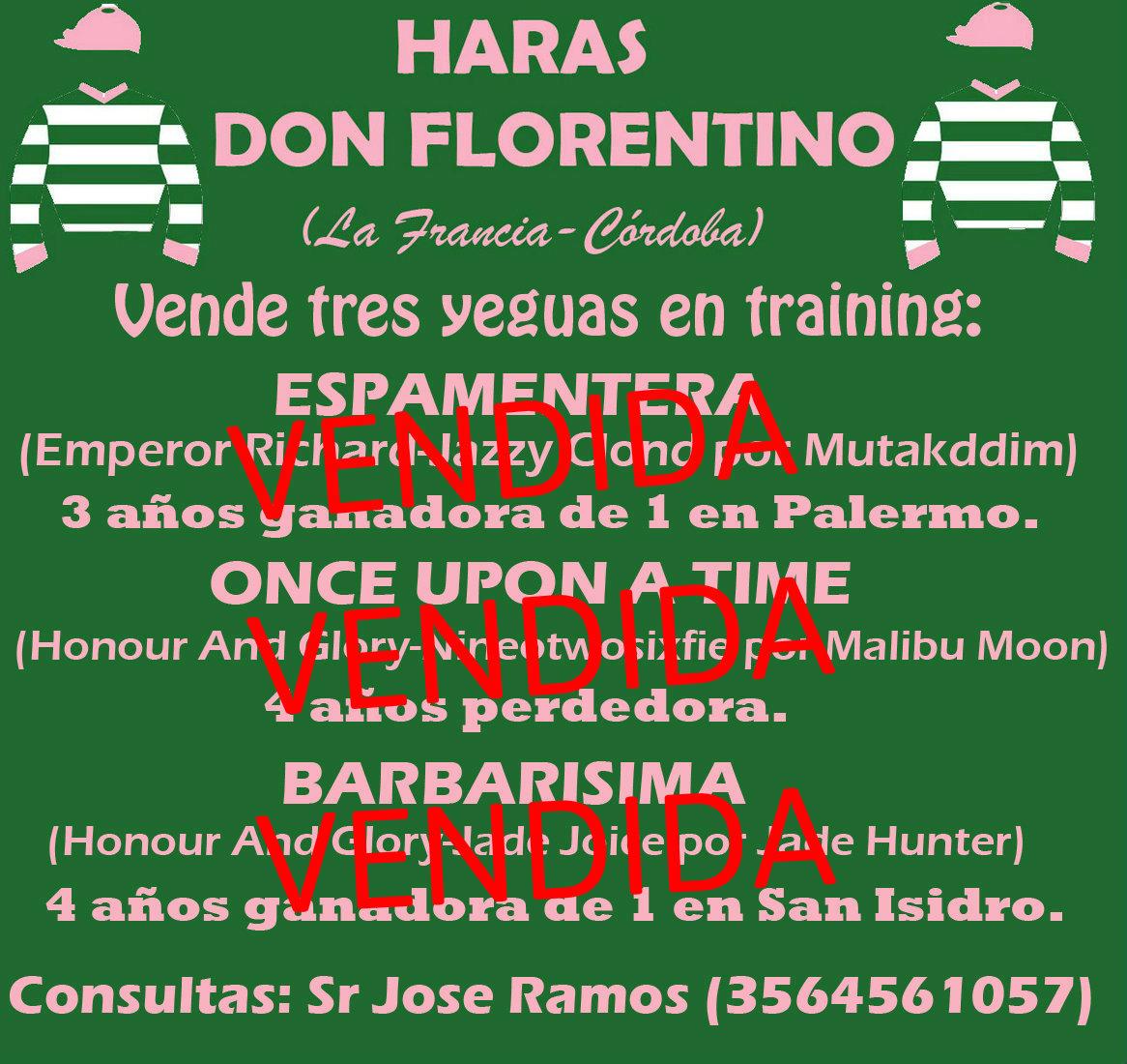 HS DON FLORENTINO VENDIDOS