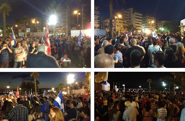 Ξεπέρασε κάθε προσδοκία, η συγκέντρωση της ΧΡΥΣΗΣ ΑΥΓΗΣ στο Π. Φάληρο - Πλήθος κόσμου πλημμύρισε ολόκληρη την πλατεία Ηρώων Π.Φαλήρου