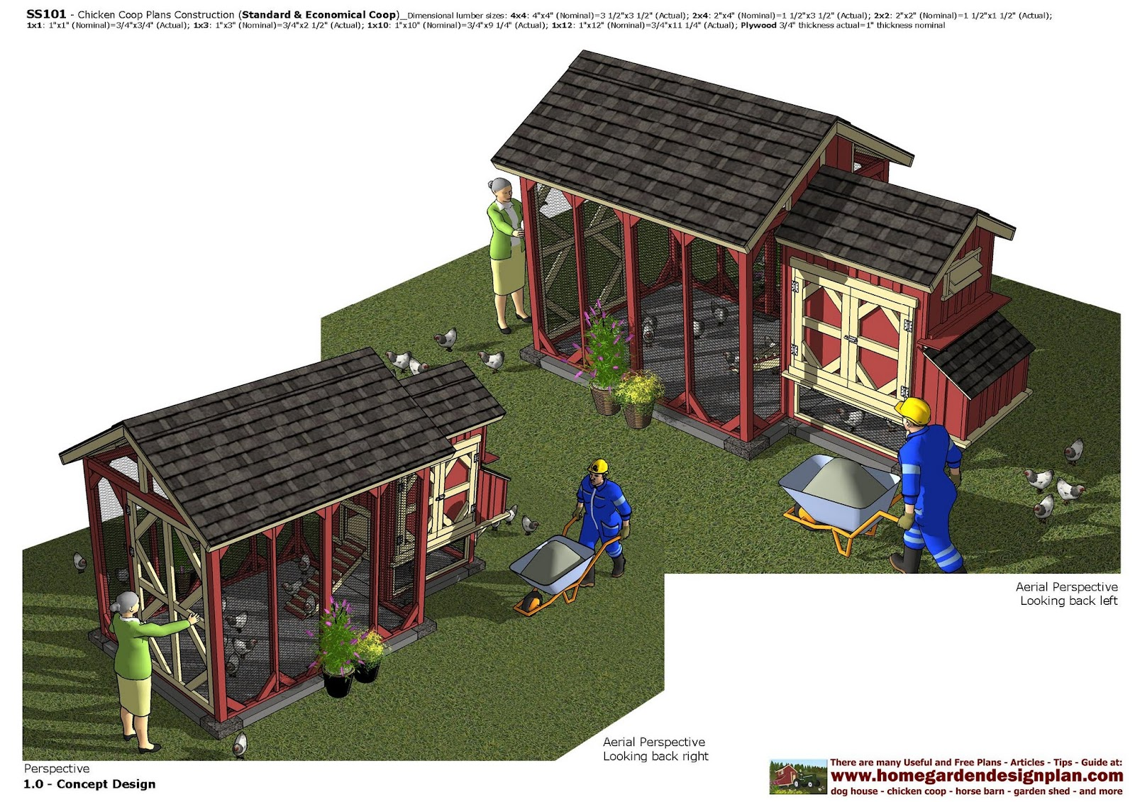 SS101 - Chicken Coop Plans Construction - Chicken Coop Design - How To
