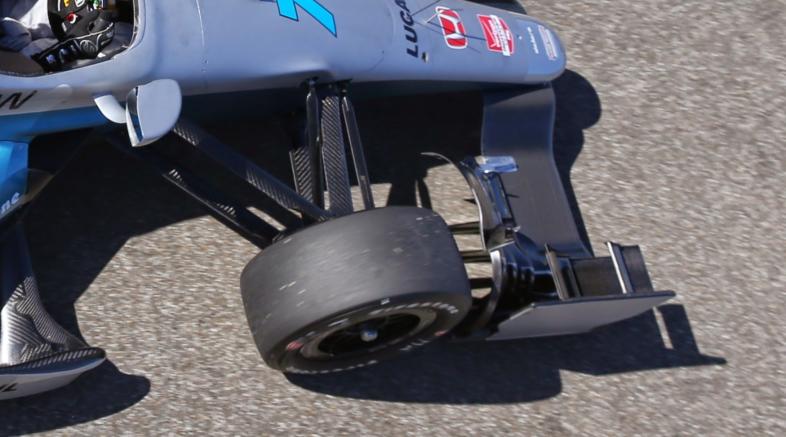 The front right element of Honda's aero kit.