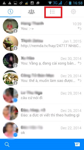 ẩn nick Facebook Messenger Android 1