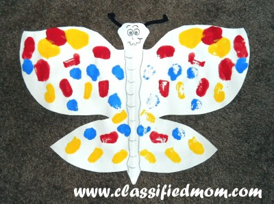 Craft Ideasyear Olds on Classified  Mom  Butterfly Symmetry Art Lesson For Kids