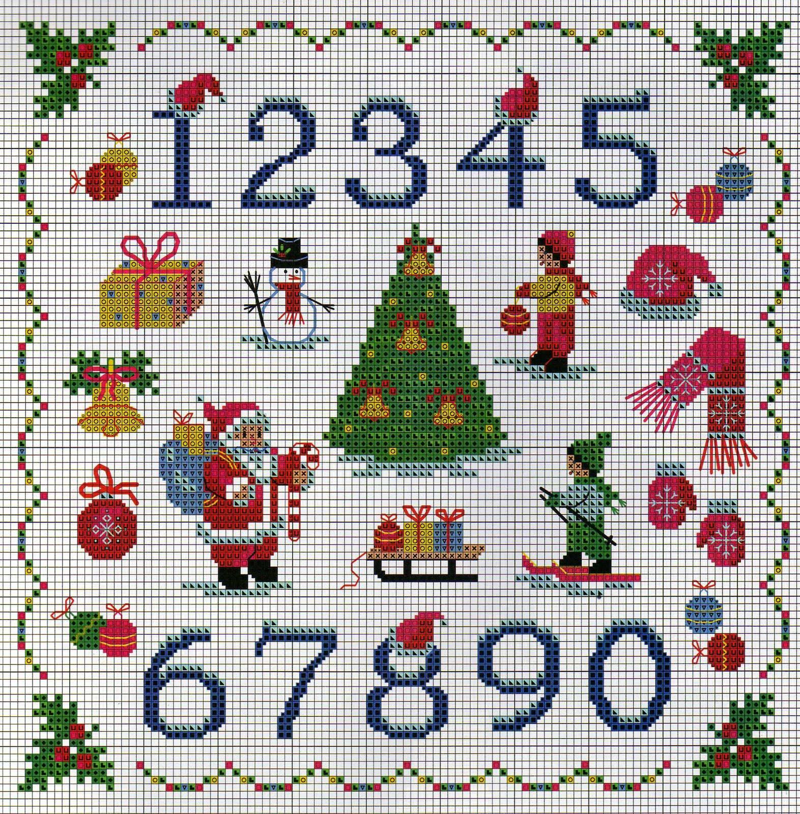Схемы для вышивки крестом с цифрами