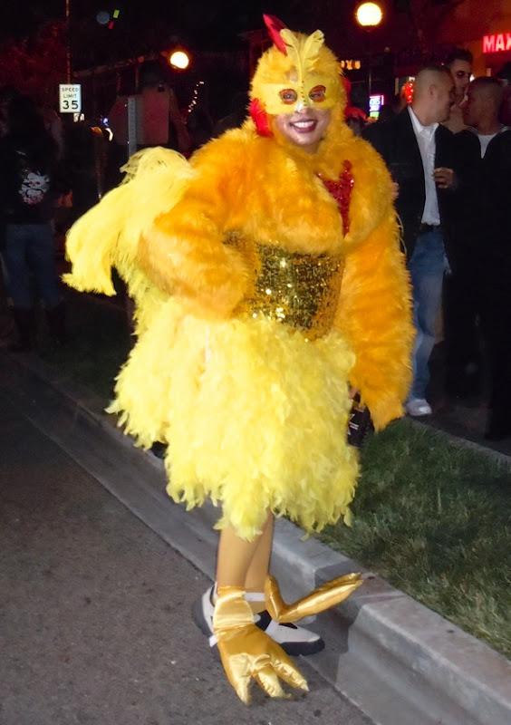 West Hollywood Halloween chicken costume 2010