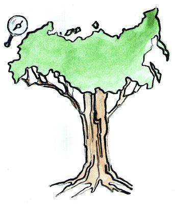 Россия дерево