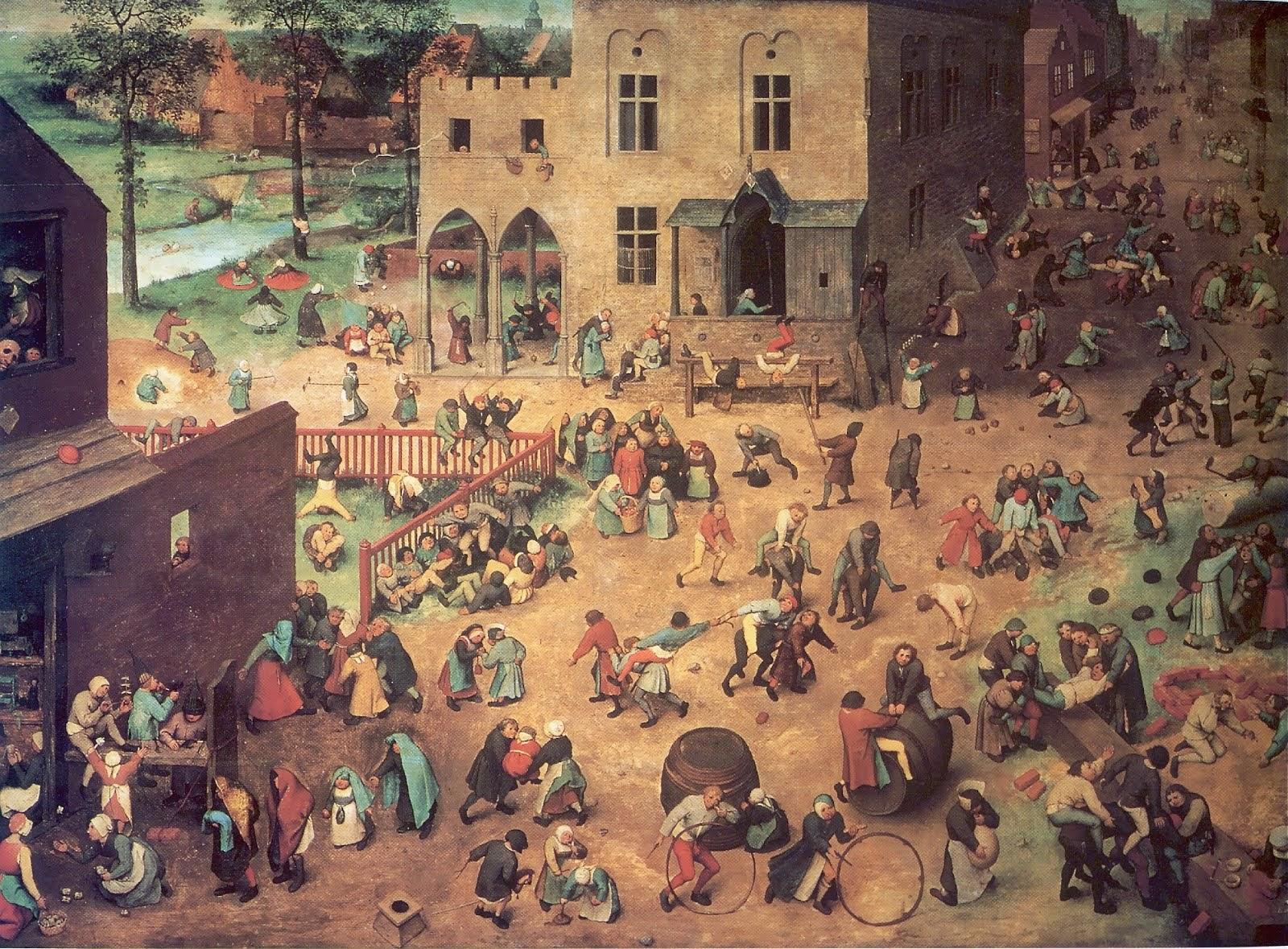 Les jeux d'enfants par Brueghel