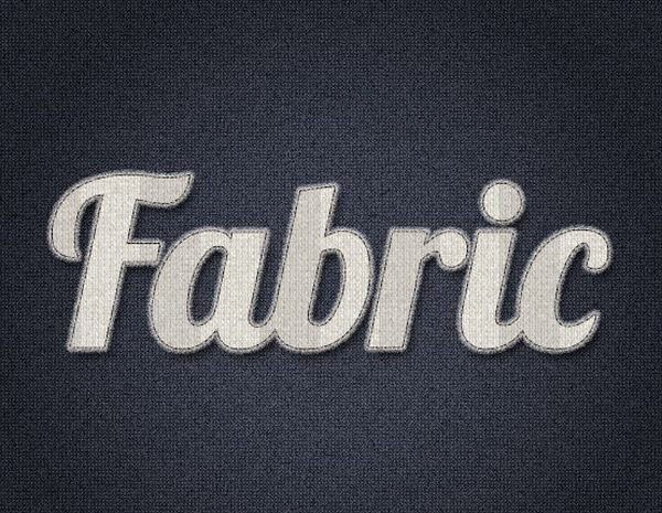 Create an Easy Stitched Fabric Type Style