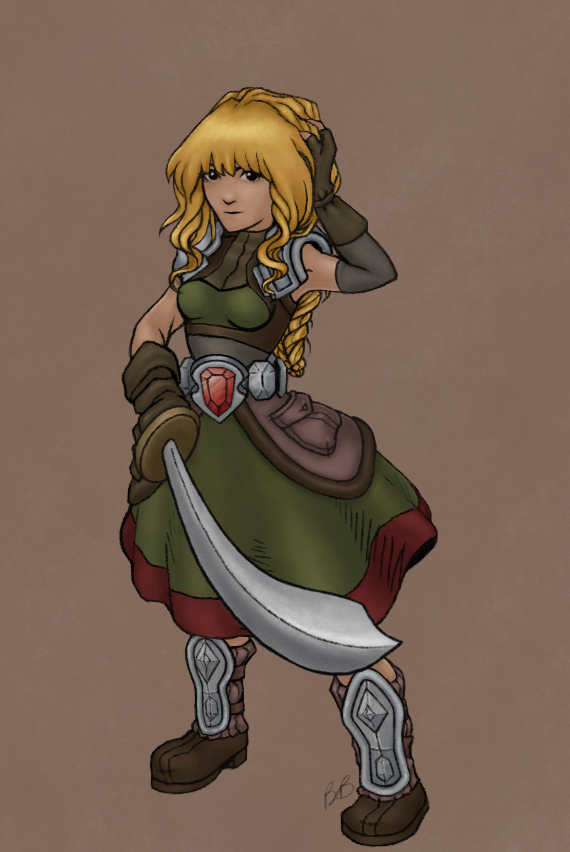 Tactics RPG Female Knight Concept