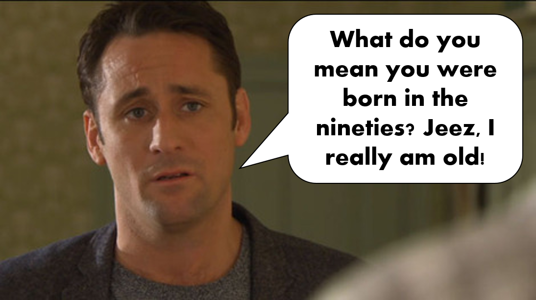 Hollyoaks, Nick Pritchard, Tony Hutchinson, The 90s, 1990s, Funny, Pictures than make you feel old,