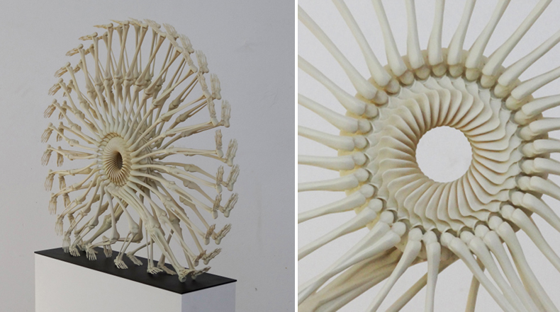 Esculturas esqueléticas bellamente repetitivas