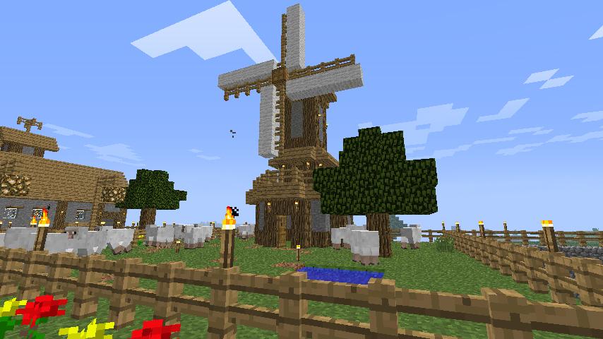 Minecraft Windm... Minecraft Windmill Farm