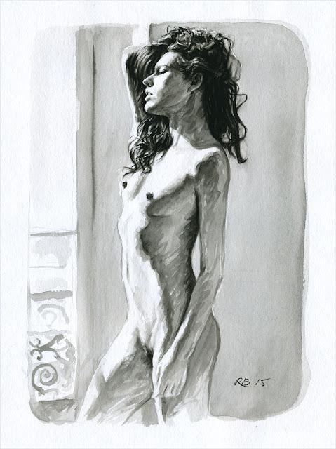 René Bui - Etude de nu à l'aquarelle 150146 - 2015