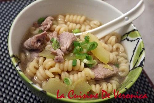 La Cuisine De Veronica 節瓜肉片湯螺絲通粉