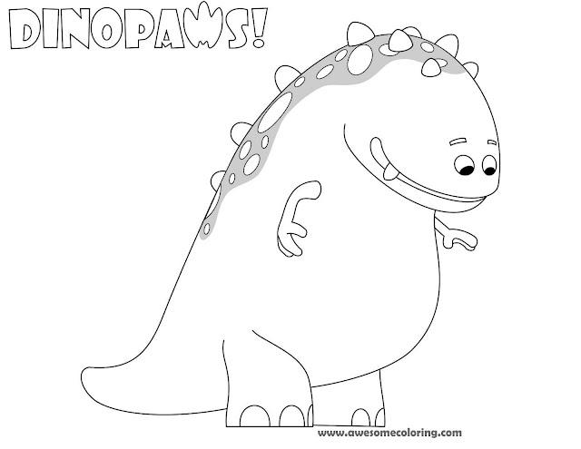 Dinopaws Claude Coloring Page