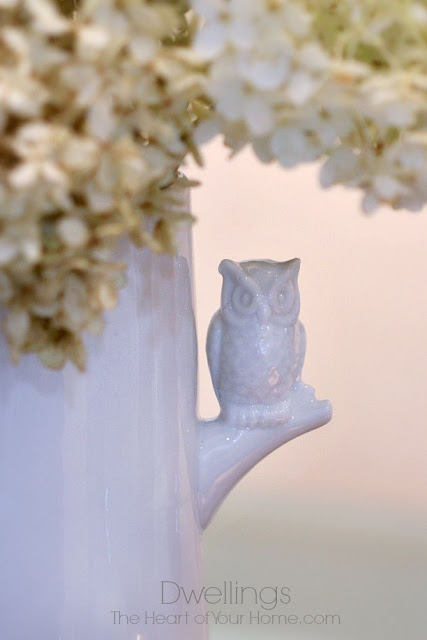 UncommonGoods Porcelain Owl Vase in the Keeping Room