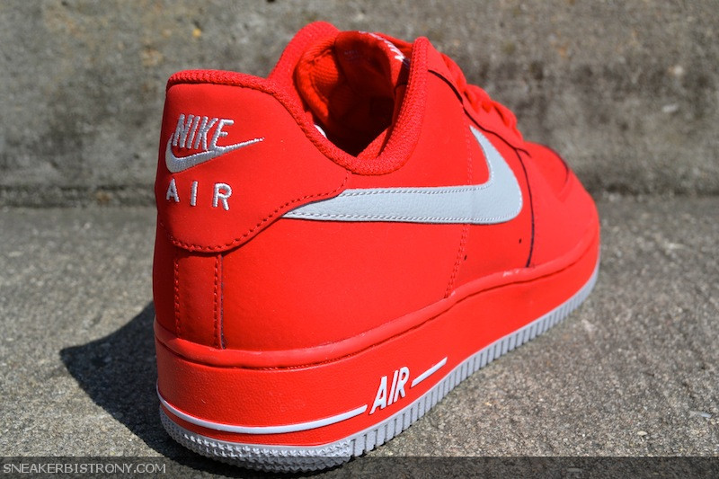 nike air force 1 low – strata grey & university red