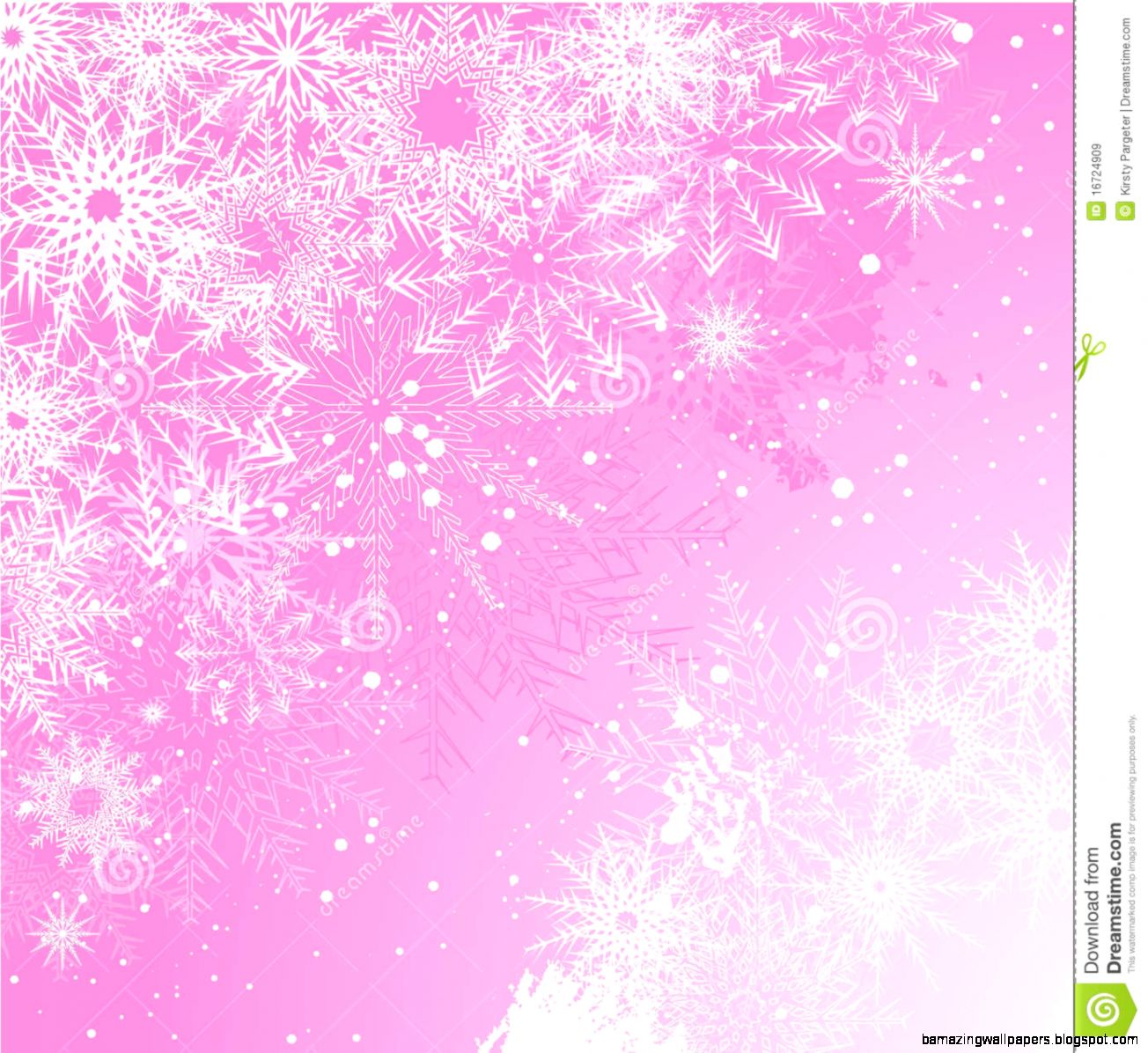 Pink Background With Snowflakes Vector Stock Images   Image 34328314