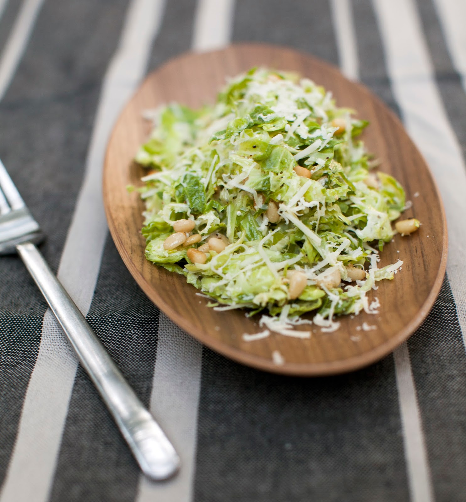 Shaved Brussel Sprout SarVecchio Salad