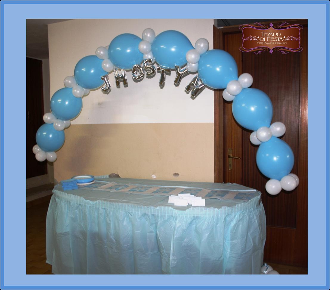 Battesimo jhostyn tempo di festa - Composizione palloncini da tavolo ...
