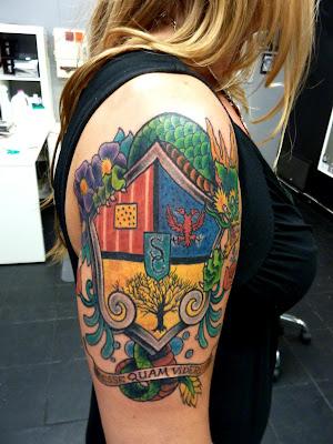 Crest Dragon Tattoo