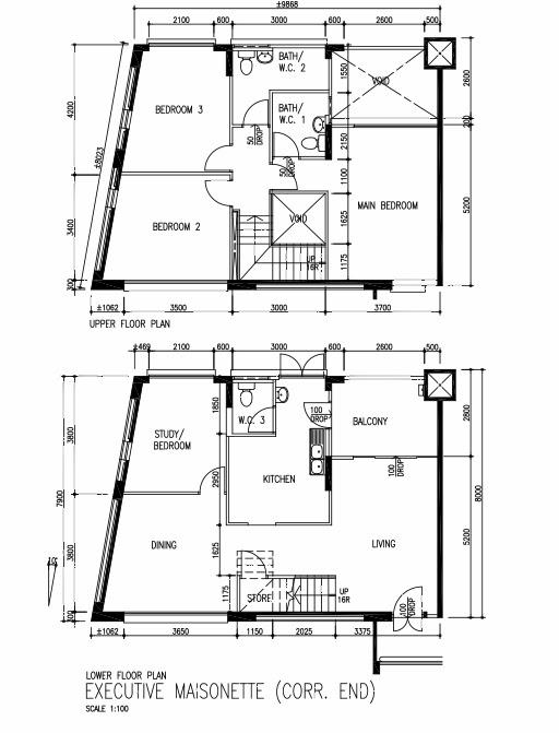 Butterpaperstudio reno bishan maisonette floorplan for Maisonette plans