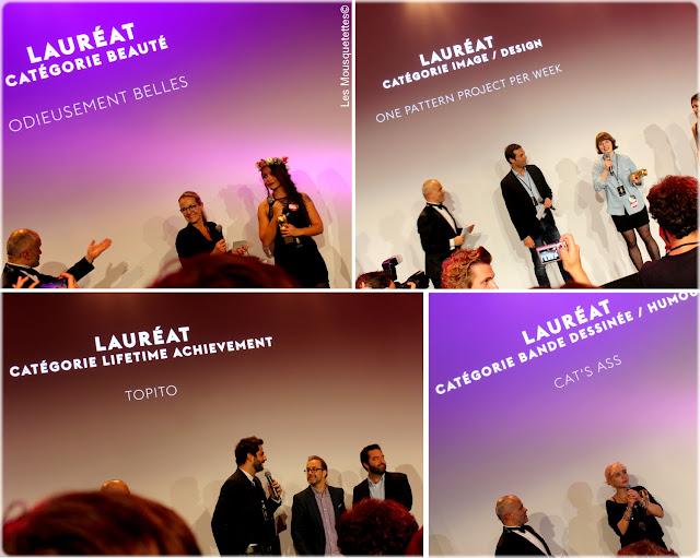 Golden Blog Awards 2015 Paris - Hôtel de Ville - Odieusement Belles, One Pattern Project Per Week, Topito, Cat's Ass - Les Mousquetettes©
