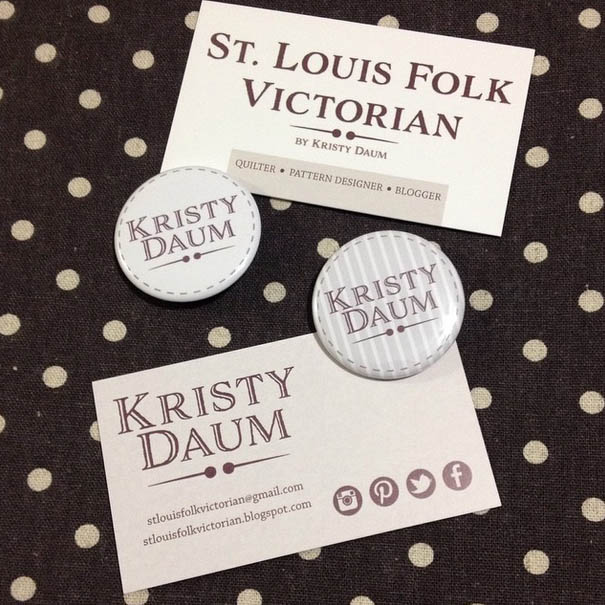St. Louis Folk Victorian // Kristy Daum - Pins & Networking Cards