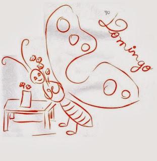 desenho da semaninha da borboleta domingo