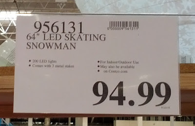 Deal for a 64in LED Skating Snowman at Costco