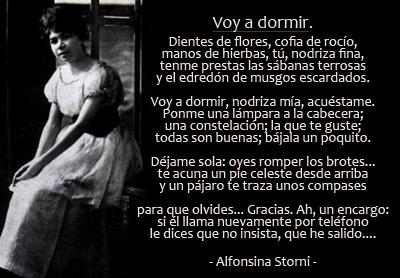 Alfonsina Storni Voy a dormir