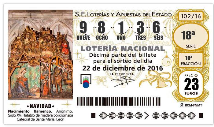 LOTERÍA DE NAVIDAD 2016