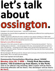 Let's talk about Ossington