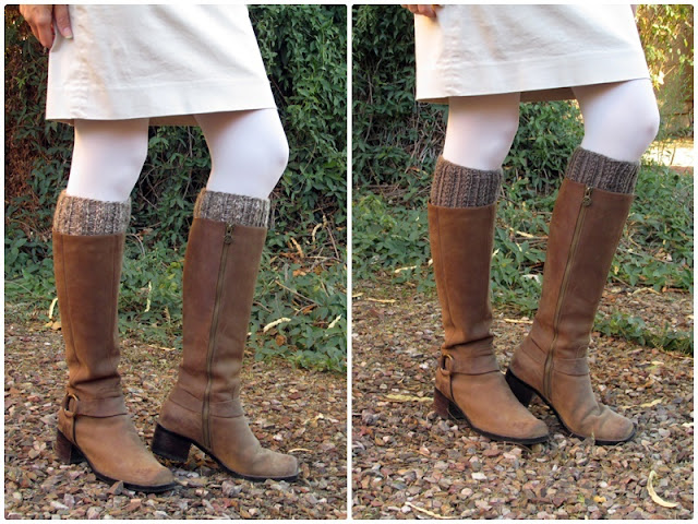 This easy to knit boot cuff pattern is a simple stash buster project