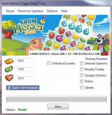 FARM HEROES SAGA CHEATS HACK TOOL [FACEBOOK] FREE DOWNLOAD