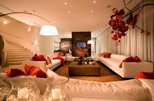 decoracoes de interiores de apartamentos:CASA MIDDAS: O vermelho na decoração de sua casa.