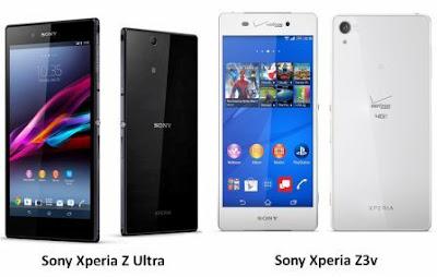 Perbandingan Sony Xperia Z3v dan Sony Xperia Z Ultra