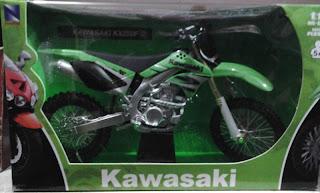 Miniatur Motor Trail kawasaki KX 250F