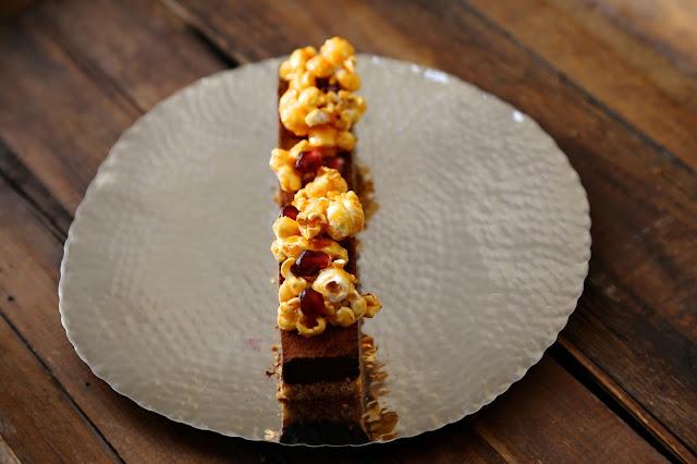 ganache chocolat, pop corn, dessert noel festif