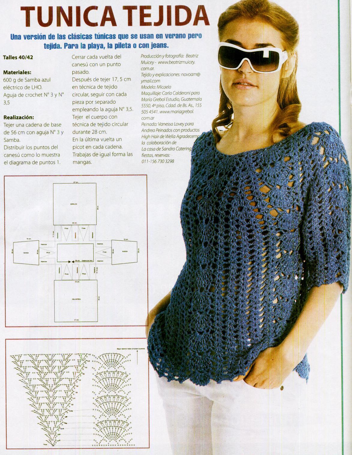 COMO HACER TÚNICA CALADA PARA VERANO A CROCHET | Patrones Crochet ...