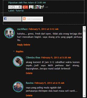 Cara Memasang Scroll Komentar Blog Yang Berdampingan Dengan Komentar Facebook