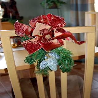 Navidad, decoración de Sillas