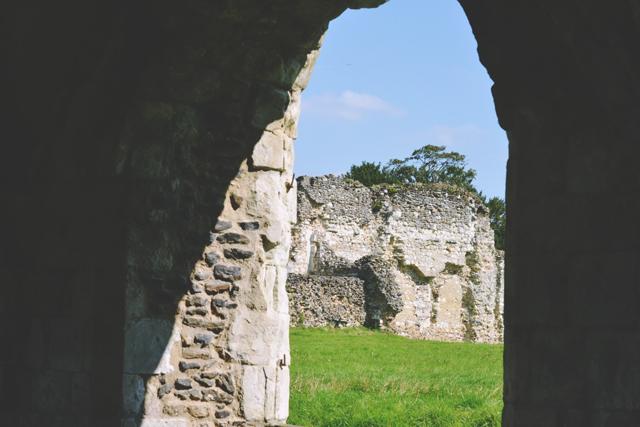 Waverley Abbey on sunny day