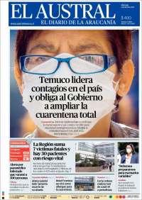 03/04/2020    UNA  PRIMERA PÁGINA DE LA PRENSA CHILENA