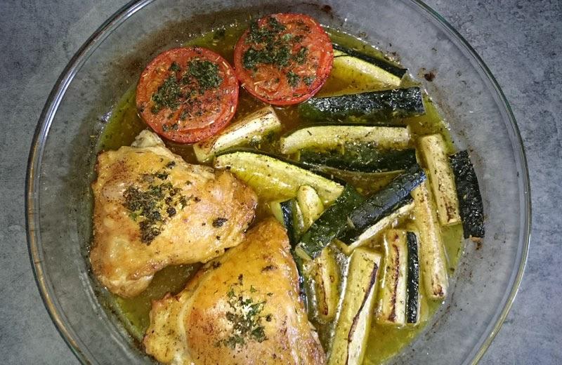 Ma cuisine facile haut de cuisses de poulet aux courgettes - Cuisiner des cuisses de poulet ...