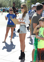 Audrina Patridge looking hot in short denim shorts and black boots