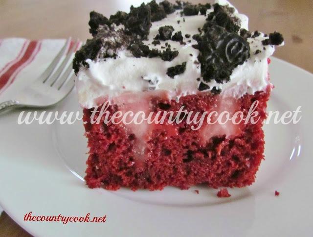 Red Velvet Poke Cake With Cheesecake Pudding Recipe