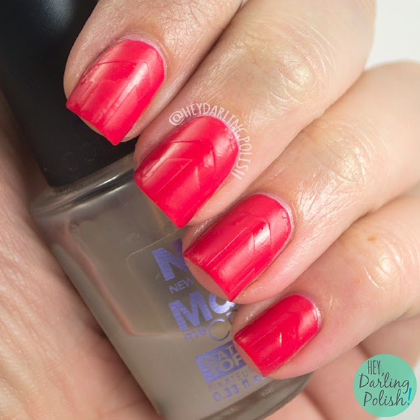 nails, nail art, nail polish, red, golden oldie thursdays, hey darling polish, matte