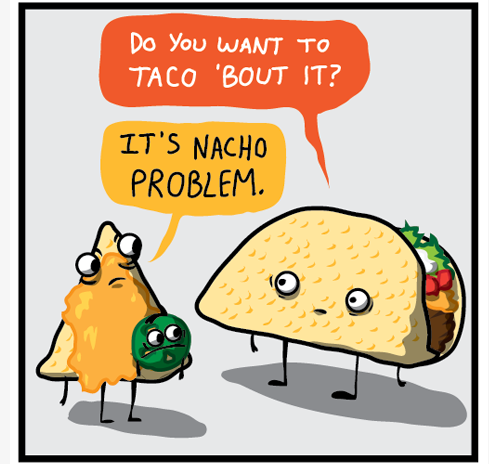 How about a few good food puns ok then