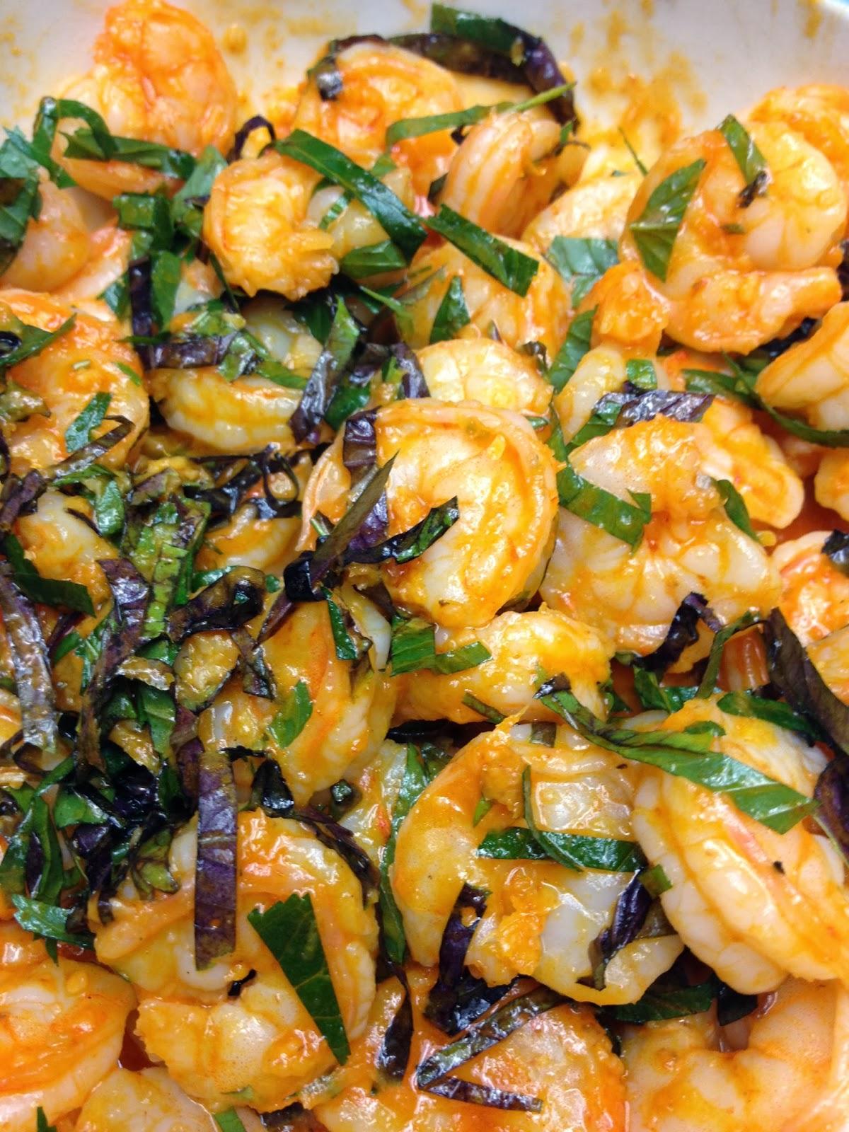 Eating Dinner With My Family: Sriracha-Buttered Shrimp