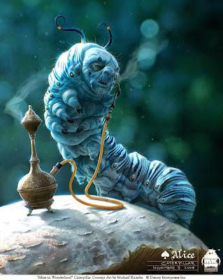 Michael Kutsche, ilustraciones, Alice in Wonderland, Tim Burton